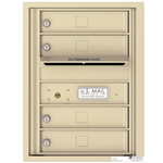 4 Tenant Doors with Outgoing Mail Compartment - 4C Recessed Mount versatile™ - Model 4C06S-04