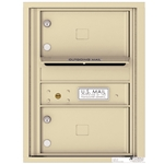 2 Tenant Doors with Outgoing Mail Compartment - 4C Recessed Mount versatile™ - Model 4C06S-02