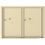 2 Parcel Doors / Parcel Lockers - 4C Recessed Mount versatile™ - Model 4C06D-2P