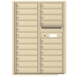 22 Tenant Doors and Outgoing Mail Compartment - 4C Recessed Mount versatile™ - Model 4C12D-22