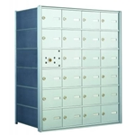 23 Tenant Doors with 1 Master Door and 1 Parcel Locker Custom Unit - 1400 Series USPS 4B+ Approved Horizontal Replacement Mailbox - Model 140064-SP