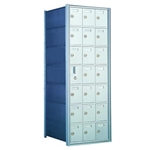 7 Doors High x 3 Doors Wide - Custom 1600 Series Front Loading, Recess-Mounted Private Delivery Mailboxes - Model 160073-SP