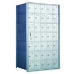 7 Doors High x 5 Doors Wide - Custom 1600 Series Front Loading, Recess-Mounted Private Delivery Mailboxes - Model 160075-SP