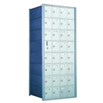 8 Doors High x 4 Doors Wide - Custom 1600 Series Front Loading, Recess-Mounted Private Delivery Mailboxes - Model 160084-SP