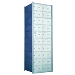 10 Doors High x 4 Doors Wide - Custom 1600 Series Front Loading, Recess-Mounted Private Delivery Mailboxes - Model 1600104-SP