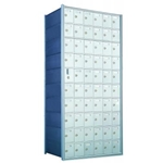 10 Doors High x 6 Doors Wide - Custom 1600 Series Front Loading, Recess-Mounted Private Delivery Mailboxes - Model 1600106-SP