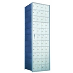 11 Doors High x 4 Doors Wide - Custom 1600 Series Front Loading, Recess-Mounted Private Delivery Mailboxes - Model 1600114-SP