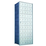 11 Doors High x 5 Doors Wide - Custom 1600 Series Front Loading, Recess-Mounted Private Delivery Mailboxes - Model 1600115-SP