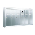 Six Compartment - 1200 Series Vertical Surface Mount USPS Replacement Approved - Apartment Style Mailboxes - Model 12506SMSHA