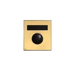 Mechanical Door Chime - Anodized Gold - with Name Plate - Model 687102-01