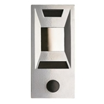Mechanical Door Chime - Silver Powder Coat - with Viewing Mirror, ID Plate and Name Plate - Model 689105-01
