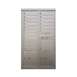 20 Tenant Doors and 2 Parcel Lockers - Two Column Front Loading - Model D20P2 - Max + Parcel Series - USPS Approved 4C Horizontal Mailbox