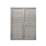 20 Single Height Tenant Doors - Two Column Front Loading - Model D20 - Max Series - USPS Approved 4C Horizontal Mailbox