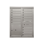 15 Tenant Doors and 1 Parcel Locker - Two Column Front Loading - Model D15P1 - Max Series -  USPS Approved 4C Horizontal Mailbox