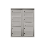 9 Double / 2 Single Height Tenant Doors - Two Column Front Loading - Model D2D9 - Max Series - USPS Approved 4C Horizontal Mailbox