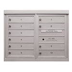 10 Single Height Tenant Doors - Front Loading - Model D10 - ADA 48 Series - USPS Approved 4C Horizontal Mailbox