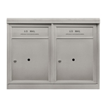 2 ADA Parcel Lockers - Front Loading - Model P2ADA48 - ADA 48 Series - USPS Approved 4C Horizontal Mailbox