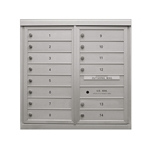 14 Single Height Tenant Doors - Front Loading - Model D14 - ADA 54 Series - USPS Approved 4C Horizontal Mailbox