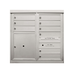 9 Single Height Tenant Doors and 1 Parcel Locker - Front Loading - Model D9P1 - ADA 54 Series - USPS Approved 4C Horizontal Mailbox
