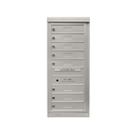 8 Single Height Tenant Doors - One Column Front Loading - Model S8 - Comfort Series - USPS Approved 4C Horizontal Mailbox