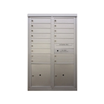 16 Tenant Doors and 2 Parcel Lockers - Front Loading - Model D16P2 - Flex Series - USPS Approved 4C Horizontal Mailbox