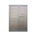 14 Tenant Doors and 2 Parcel Lockers - Front Loading - Model D14P2 - Flex Series - USPS Approved 4C Horizontal Mailbox