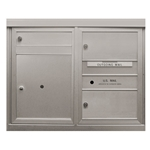 12 Tenant Doors and 2 Parcel Lockers - Front Loading - Model D12P2 - Flex Series - USPS Approved 4C Horizontal Mailbox
