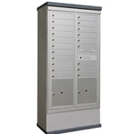 20 Tenant Doors and 2 Parcel Lockers - Model CE1D-D20P2 - CDS Collection - USPS Approved Outdoor Mailbox Kiosk
