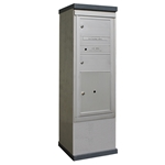 2 Doublewide Tenant Doors and 1 Parcel Locker - Model CE1S-SD2P1 - CDS Collection - USPS Approved Outdoor Mailbox Kiosk