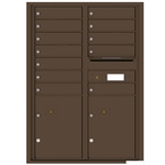Florence robust versatile™ 4C mailbox with 12 door / 12 doors line was developed with a simple to use a modular system that provides a very flexible solution for your individual project needs - taking the guesswork out of meeting the necessary USPS requirements and/or ADA Fair Housing requirements, too. Standard pre-configured options are available for simple installations, or custom-build a solution from a base unit to make your centralized mail center stand out from the rest. Available in three mounting types, this indoor/outdoor solution can effectively replace an outdated mailbox installation or be designed for any new construction project.