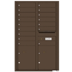 Florence robust versatile™ 4C mailbox with 14 door / 14 doors line was developed with a simple to use a modular system that provides a very flexible solution for your individual project needs - taking the guesswork out of meeting the necessary USPS requirements and/or ADA Fair Housing requirements, too. Standard pre-configured options are available for simple installations, or custom-build a solution from a base unit to make your centralized mail center stand out from the rest. Available in three mounting types, this indoor/outdoor solution can effectively replace an outdated mailbox installation or be designed for any new construction project.