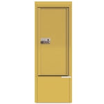 Package Protector™ PORT for Single Family Homes - Carrier Neutral Package Delivery Box with Pedestal - In Gold Speck Color