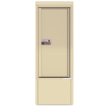 Package Protector™ PORT for Single Family Homes - Carrier Neutral Package Delivery Box with Pedestal - In Sandstone Color
