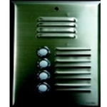 558SS3P 3 button stainless steel speaker panel
