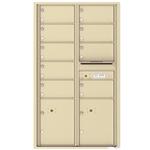 4C Horizontal mailbox 9 Compartment