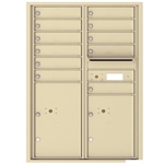 11 Tenant Doors with 2 Parcel Locker and Outgoing Mail Compartment - 4C Recessed Mount versatile™ - Model 4C12D-11