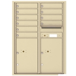 10 Tenant Doors with 2 Parcel Locker and Outgoing Mail Compartment - 4C Recessed Mount versatile™ - Model 4C12D-10