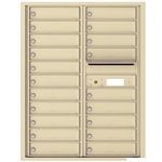 Florence 4C mailboxes are USPS Approved and meet or exceed STD-4C requirements for new construction and major renovations. They are also ideal for private delivery applications. 20 Tenant Doors with Outgoing Mail Compartment - 4C Recessed Mount versatile™ - Model 4C11D-20