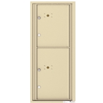 2 Parcel Doors / Parcel Lockers - 4C Recessed Mount versatile™ - Model 4C11S-2P