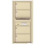 4 Tenant Doors with Outgoing Mail Compartment - 4C Recessed Mount versatile™ - Model 4C10S-04
