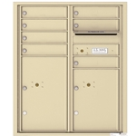 7 Tenant Doors with 2 Parcel Lockers and Outgoing Mail Compartment - 4C Recessed Mount versatile™ - Model 4CADD-07