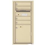 4 Tenant Doors with 1 Parcel Locker and Outgoing Mail Compartment - 4C Recessed Mount versatile™ - Model 4CADS-04