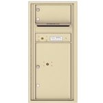 1 Tenant Door with 1 Parcel Locker and Outgoing Mail Compartment - 4C Recessed Mount versatile™ - Model 4CADS-01