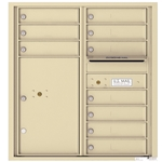 10 Tenant Doors with 1 Parcel Locker and Outgoing Mail Compartment - 4C Recessed Mount versatile™ - Model 4C09D-10