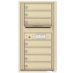 7 Tenant Doors with Outgoing Mail Compartment - 4C Recessed Mount versatile™ - Model 4C09S-07