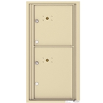 2 Parcel Doors / Parcel Lockers - 4C Recessed Mount versatile™ - Model 4C09S-2P