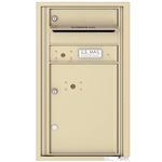 1 Tenant Door with 1 Parcel Locker and Outgoing Mail Compartment - 4C Recessed Mount versatile™ - Model 4C08S-01