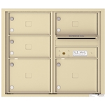 5 Tenant Doors with Outgoing Mail Compartment - 4C Recessed Mount versatile™ - Model 4C07D-05