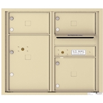 3 Tenant Doors with 1 Parcel Locker and Outgoing Mail Compartment - 4C Recessed Mount versatile™ - Model 4C07D-03
