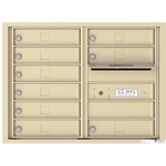 Florence 4C mailboxes are USPS Approved and meet or exceed STD-4C requirements for new construction and major renovations. They are also ideal for private delivery applications. 9 Tenant Doors with Outgoing Mail Compartment - 4C Recessed Mount versatile™ - Model 4C06D-09